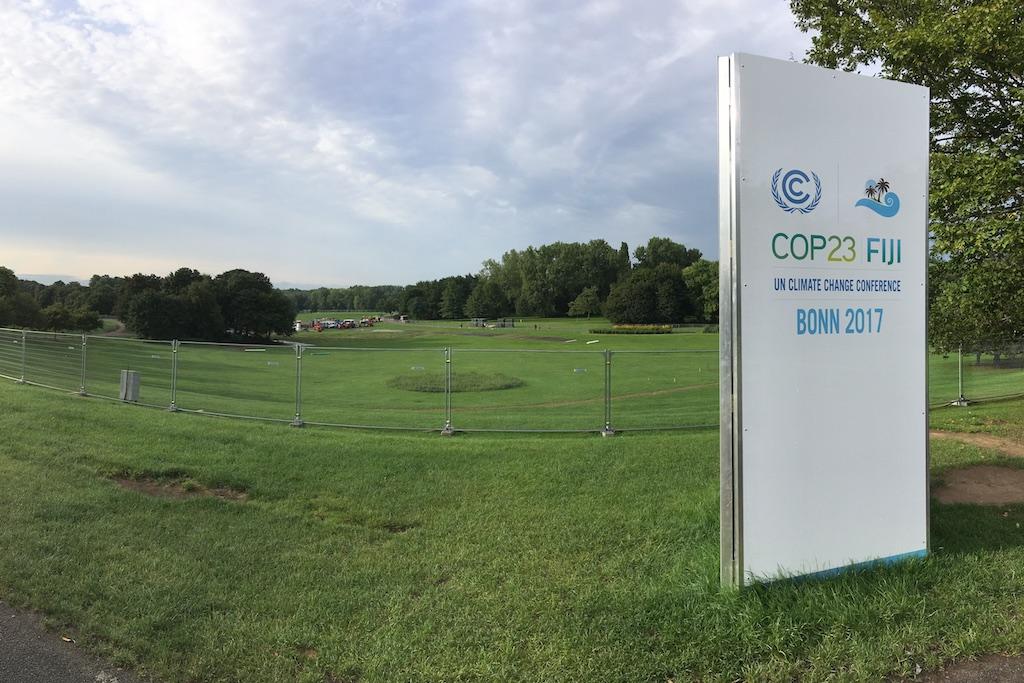 COP 23 Absperrung