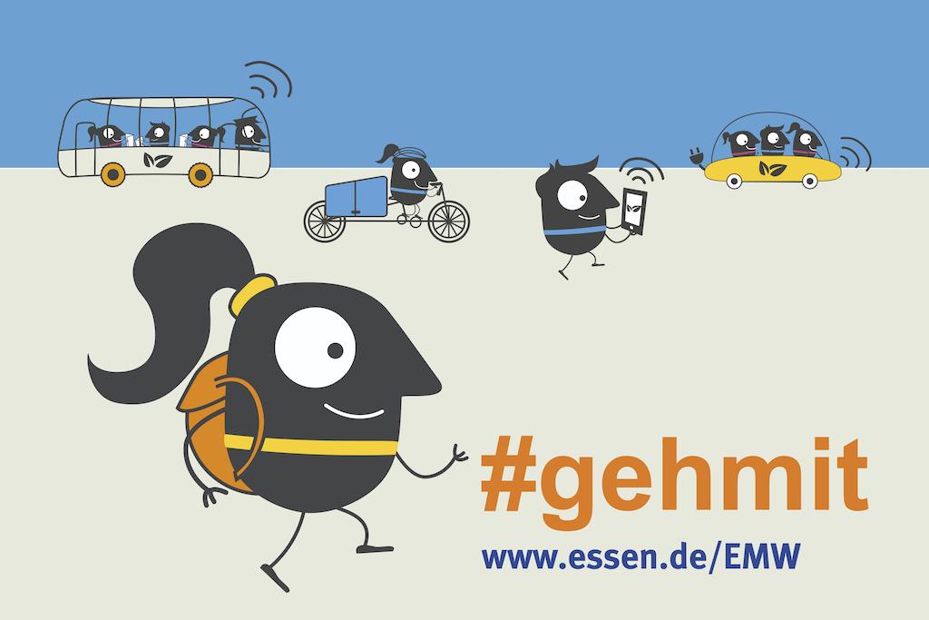 Europäische Mobilitätswoche EMW 2019 Essen Plakat #gehmit