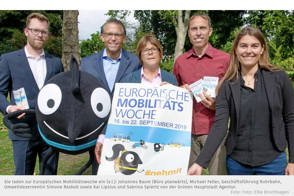 Europäische Mobilitätswoche EMW 2019 Essen Pressekonferenz #gehmit